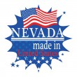Label with flag and text Made in Nevada — Stockvectorbeeld