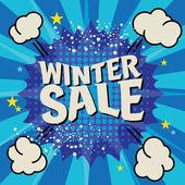 Winter sale poster — Stock Vector
