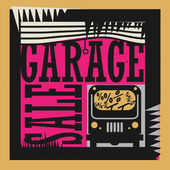 Abstract Garage Sale sign — Vector de stock