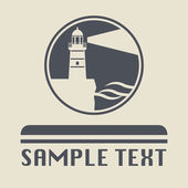 Lighthouse icon or sign — Stock vektor