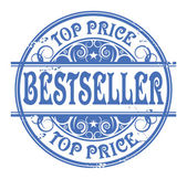Carimbo de borracha ouro grunge com o best-seller palavra — Vetor de Stock