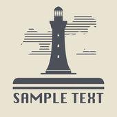 Lighthouse icon or sign — Stok Vektör