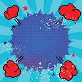 Abstrakte leere Pop-Art poster — Stockvektor