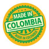 Abstracte grunge rubberstempel met de tekst gemaakt in colombia — Stockvector