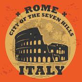 штамп с текста рим, италия внутри — Cтоковый вектор