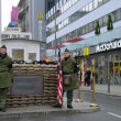 "Stock Photo: Checkpoint ""Point Charlie"" in Berlin"