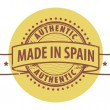 Stamp with the text Authentic, Made in Spain — Stock Vector
