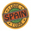 Grunge color stamp with text I Love Spain inside — Stock Vector #36653747