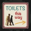 Toilets Sign — Stockvektor