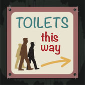 Toilets Sign — Stock Vector