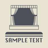 Theater stage icon or sign — Stock Vector
