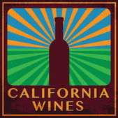 Abstract label with words California Wines — Wektor stockowy