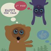 New Year's Eve greeting card — Stock vektor