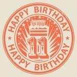 Happy Birthday — Stock Vector #36837227