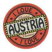 I Love Austria — Stock Vector