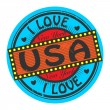 I Love United States — Stock Vector