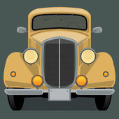 Vintage, retro car — Stock Vector