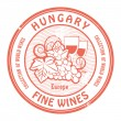 Hungary, Fine Wines — Stock Vector