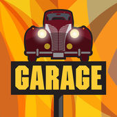 Vintage Garage sign — Stock Vector