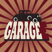 Vintage retro garage sign — Stock Vector