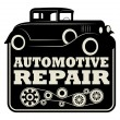 Stock Vector: Vintage automotive repair sign