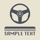 Steering Wheel icon or sign — Stock Vector