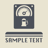 Fuel gauge icon or sign — Stock Vector
