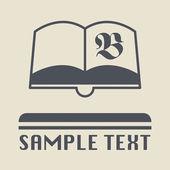レトロな本のアイコンまたは記号 — ストックベクタ