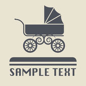 Baby Carriage icon or sign — Cтоковый вектор