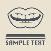 Icono de boca o signo — Vector de stock