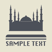 Mosque icon or sign — Stock Vector