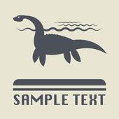 Dinosaur icon or sign — Stock Vector