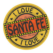 Grunge color stamp with text I Love Santa Fe inside — Stock Vector
