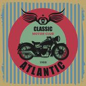Etykieta Vintage motocykl — Wektor stockowy