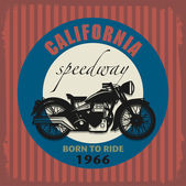 Vintage motocykl popisek — Stock vektor