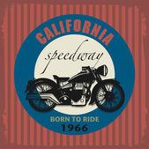 Vintage Motorcycle label — Vector de stock