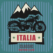 Vintage Motorcycle label — Stock Vector