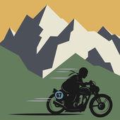 Winter mountain adventure background — Wektor stockowy
