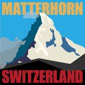 Mount Matterhorn adventure background — Stockvektor