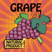 Fruit label, Grape — Stock Vector