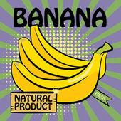 Fruit label, Banana — Stock Vector