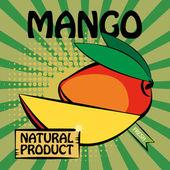 Fruit label, Mango — Stock Vector