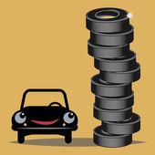 Tires — Stock Vector