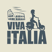 Italian abstract — Stock Vector