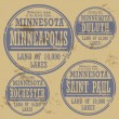 Grunge rubber stamp of Minnesotcities — Stock vektor #40352683