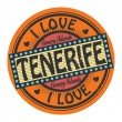Text I Love Tenerife — Stock vektor #40417397