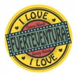 ストックベクタ: Text I Love Fuerteventura