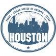Rubber stamp of Texas, Houston — Stok Vektör #40418771