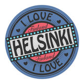 Stamp with text I Love Helsinki — Stock Vector