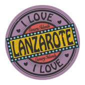 Stamp with text I Love Lanzarote — Stock Vector